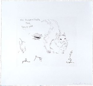 No substitute for your love by Tracy Emin. Owned by the Collective